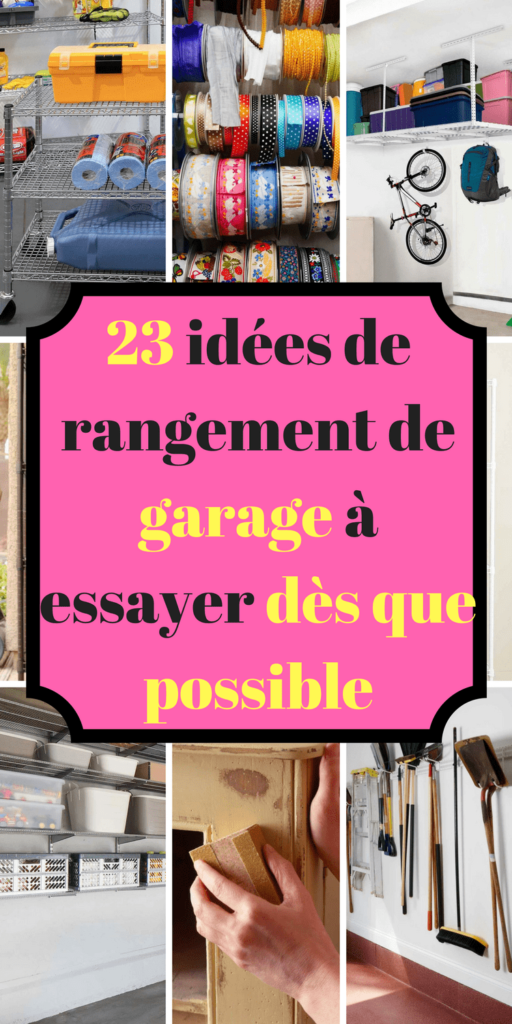 23 id es de rangement de garage essayer d s que possible. Black Bedroom Furniture Sets. Home Design Ideas